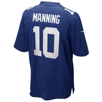 Nike NFL Team Color Game Day Jersey - Boys' Grade School - Eli Manning - New York Giants - Blue / White