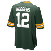 Nike NFL Team Color Game Day Jersey - Boys' Grade School - Aaron Rodgers - Green Bay Packers - Dark Green / White