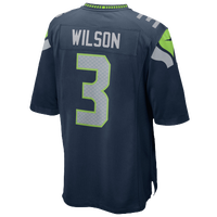 Nike NFL Team Color Game Day Jersey - Boys' Grade School - Russell Wilson - Seattle Seahawks - Navy / Grey