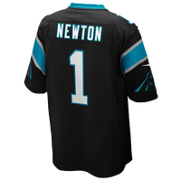 Nike NFL Team Color Game Day Jersey - Boys' Grade School - Cam Newton - Carolina Panthers - Black / White