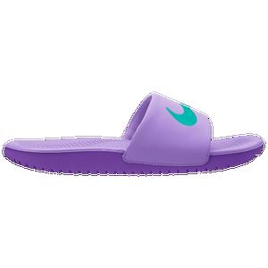 7bfb72ce37e25 Nike Kawa Slide - Boys  Grade School - Casual - Shoes - Atomic Violet Hyper  Jade Hyper Grape