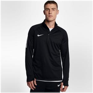Nike Shield Squad 1/2 Zip Top - Men's Soccer - Black/White 88123010