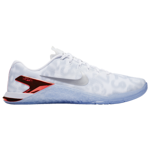 promo code f759d 072fa Nike Metcon 4 - Men's - Strength/Weight Training - Shoes - White/Metallic  Silver/Game Red