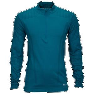 Runners Point Seamless Long Sleeve 1/2 Zip - Men's Running - Turquoise P7M511