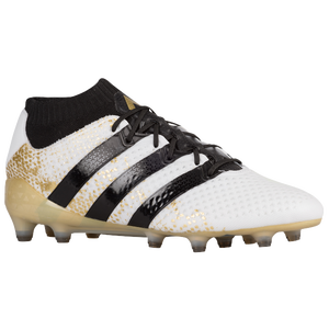 fa2aa55bd918 adidas ACE 16.1 Primeknit FG/AG - Men's - Soccer - Shoes - Ftwr White/Core  Black/Gold Metallic