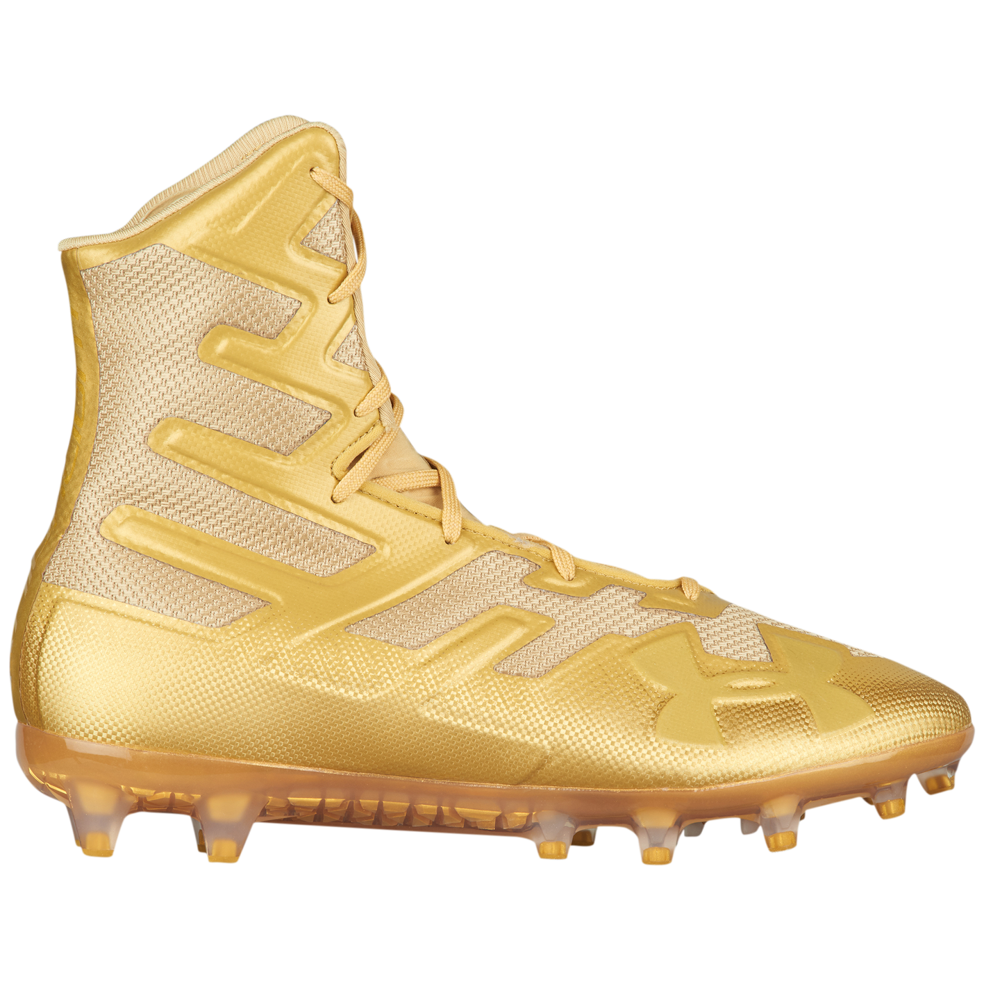 7a60bbc9833 Under Armour Highlight MC - Men's - Football - Shoes - Metallic Gold ...