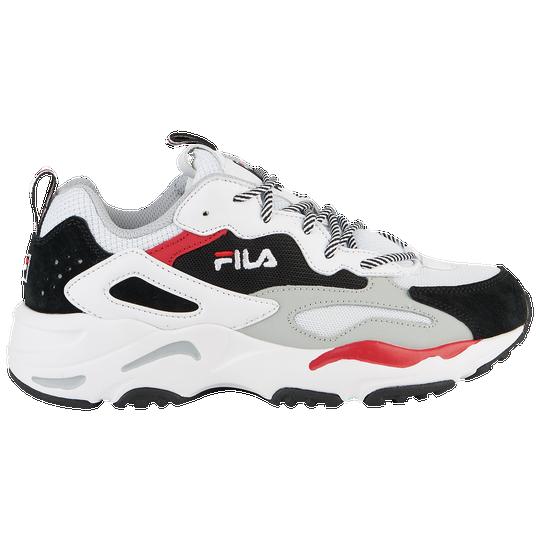 Fila Ray Tracer Womens Casual Shoes Whiteblackred