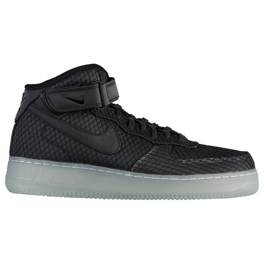 Nike Air Force 1 Mid  07 LV8 - Men s - Casual - Shoes - Black Black ... 082a4313765f5