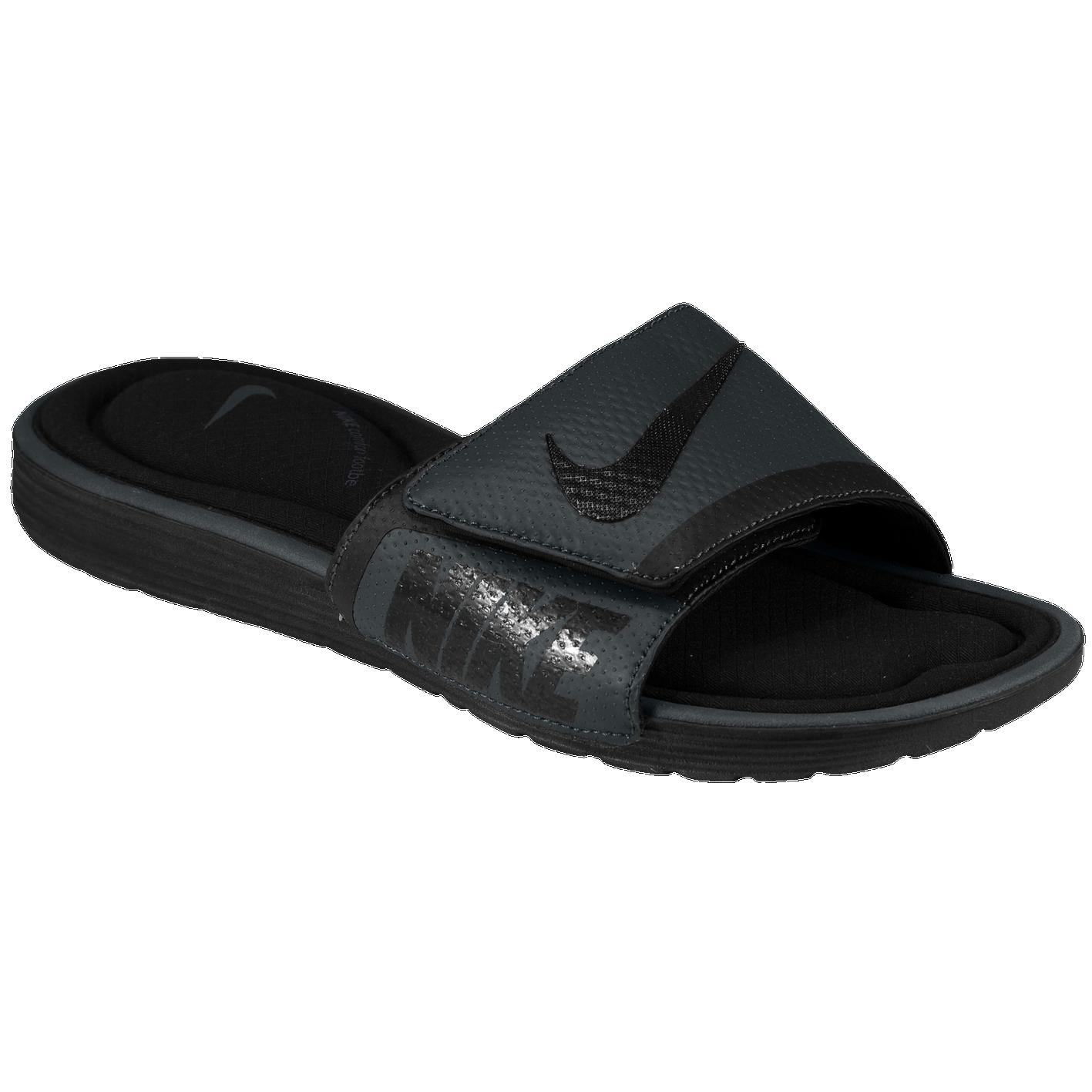 f1b3cf230 Nike Solarsoft Comfort Slide - Men s - Casual - Shoes - Black Anthracite