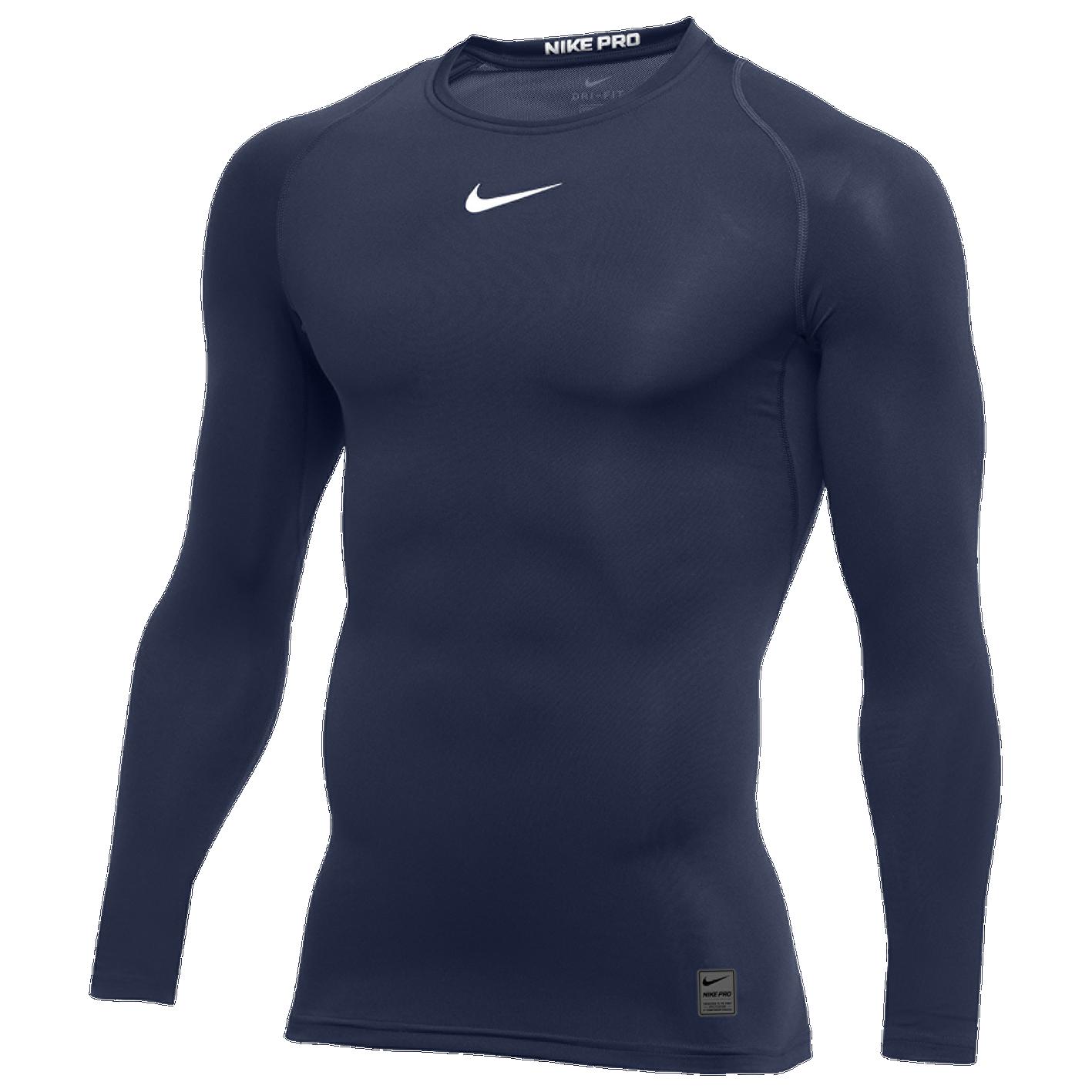 36dda6627 Nike Pro Long Sleeve Compression Top - Men's - Baseball - Clothing ...