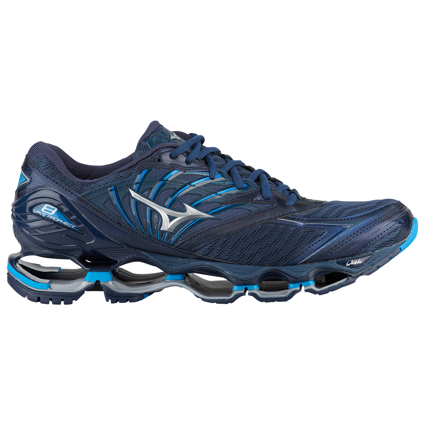 c07ae3549c34 Mizuno Wave Prophecy 8 - Men's - Running - Shoes - Blue Wing Tail/Silver