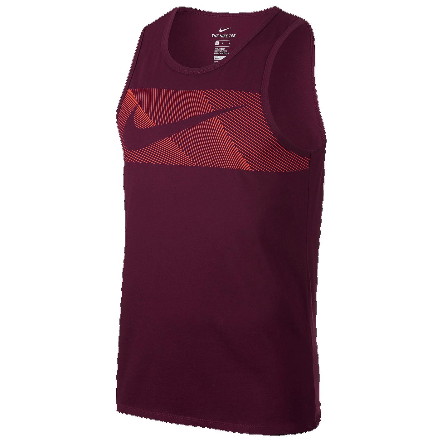 d3b6f8d39d7fdc Nike Dri-FIT Cotton Tank - Men s - Training - Clothing - Bordeaux ...