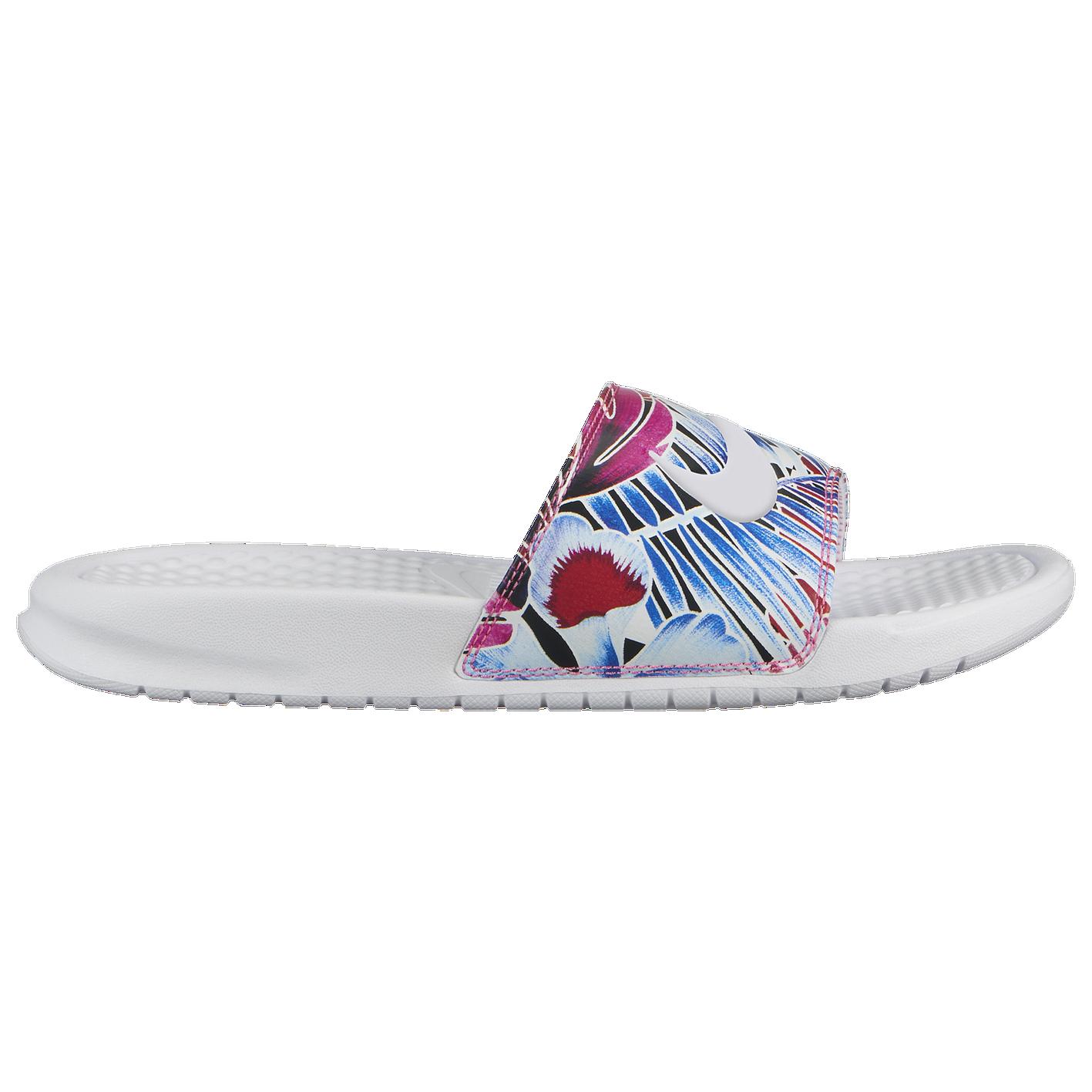 897e61e9700c Nike Benassi JDI Slide - Women s - Casual - Shoes - White Habanero Ember  Glow