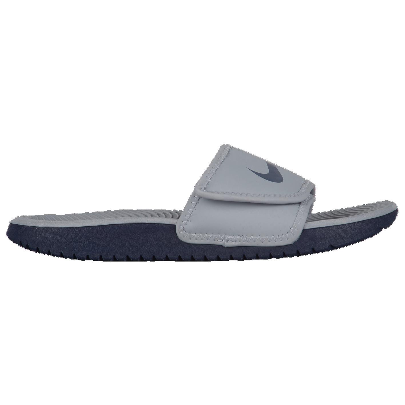b57eabb1ef74 Nike Kawa Adjust Slide - Boys  Grade School - Casual - Shoes - Wolf ...
