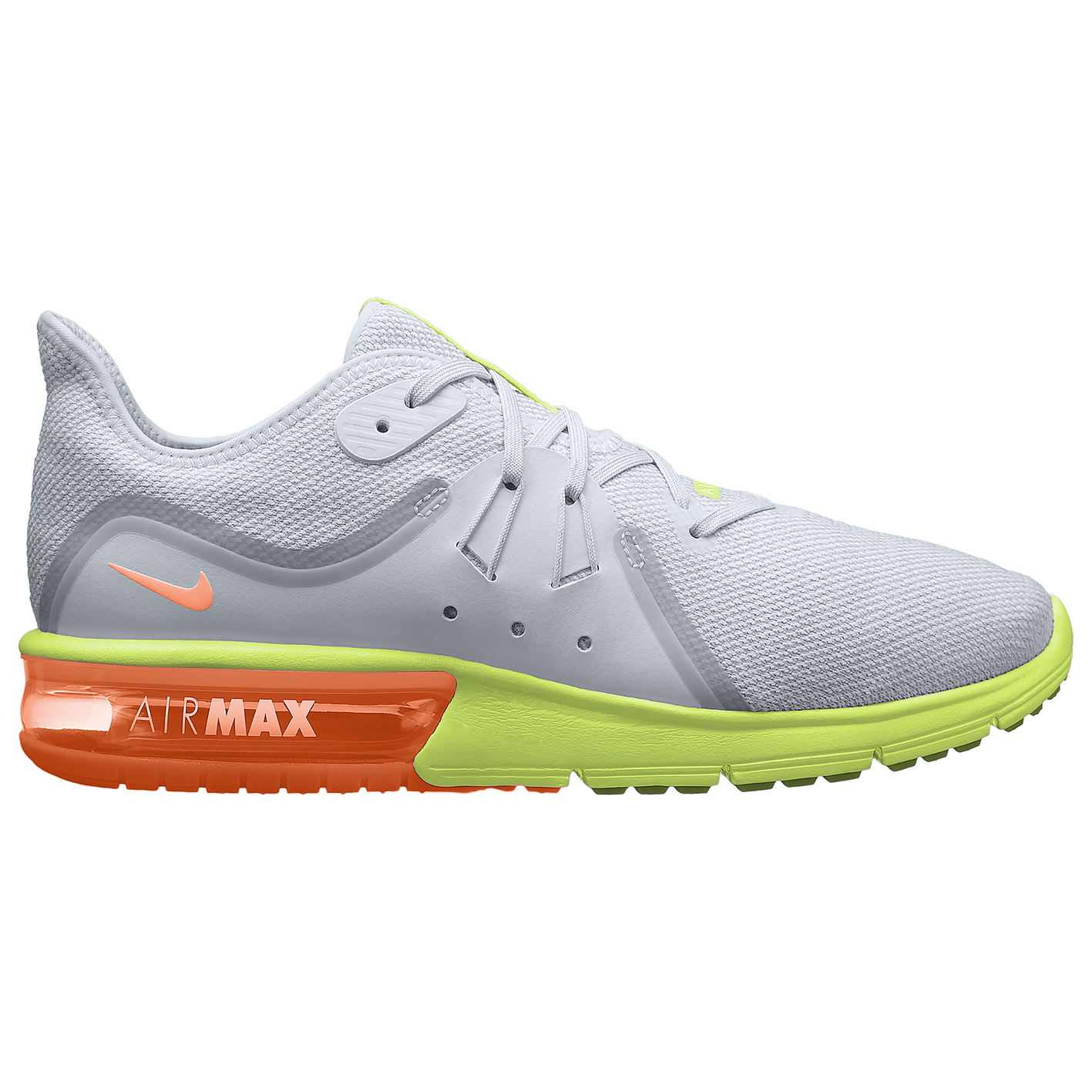 56a33bca517ab7 Nike Air Max Sequent 3 - Men s - Running - Shoes - Grey Orange Green