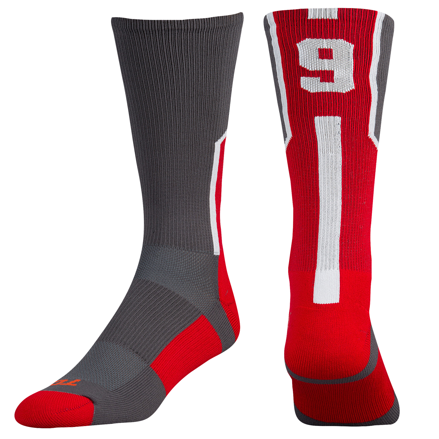 6dbc67c78a2e Twin City Player ID Custom Number Crew Socks - Men s - Football ...