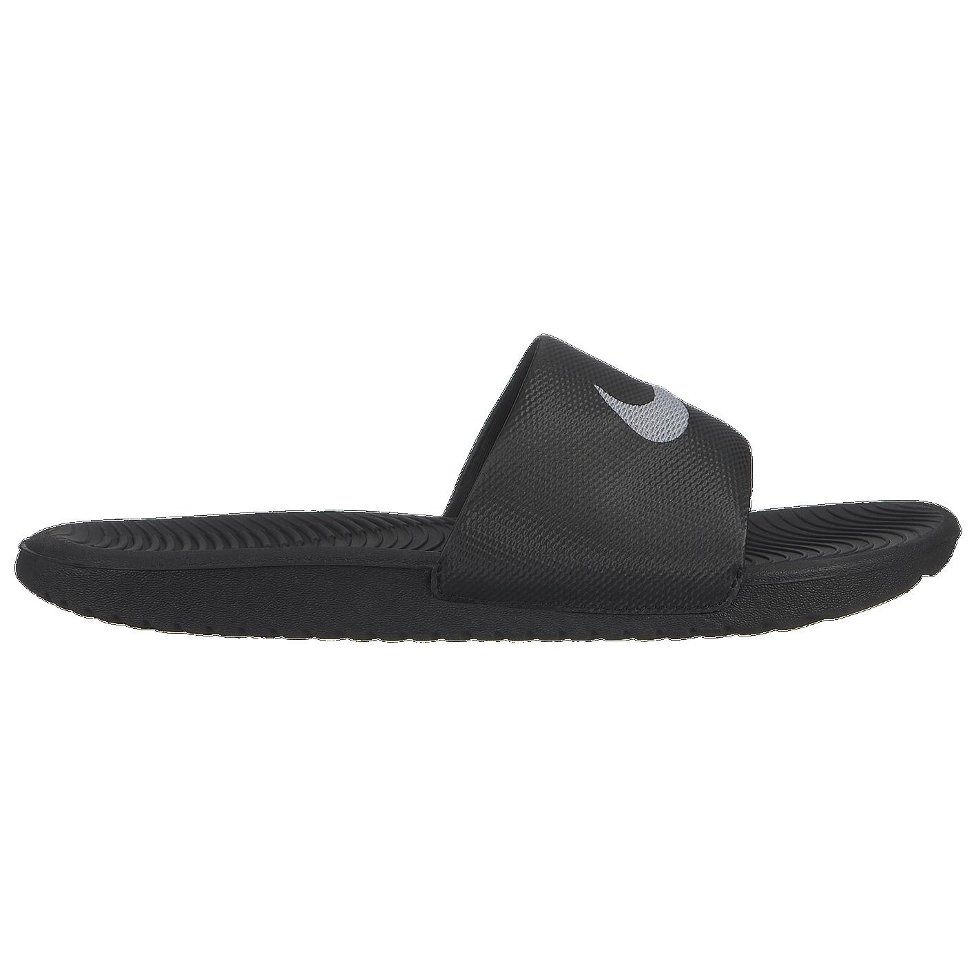 1cbab7a2a542 Nike Kawa Slide - Women s - Casual - Shoes - Black Metallic Silver