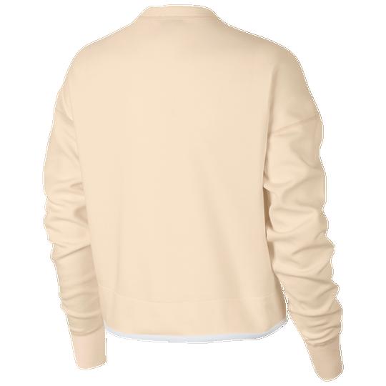 3d394d1f9682 Nike Tech Fleece Crew - Women s - Casual - Clothing - Guava Ice White