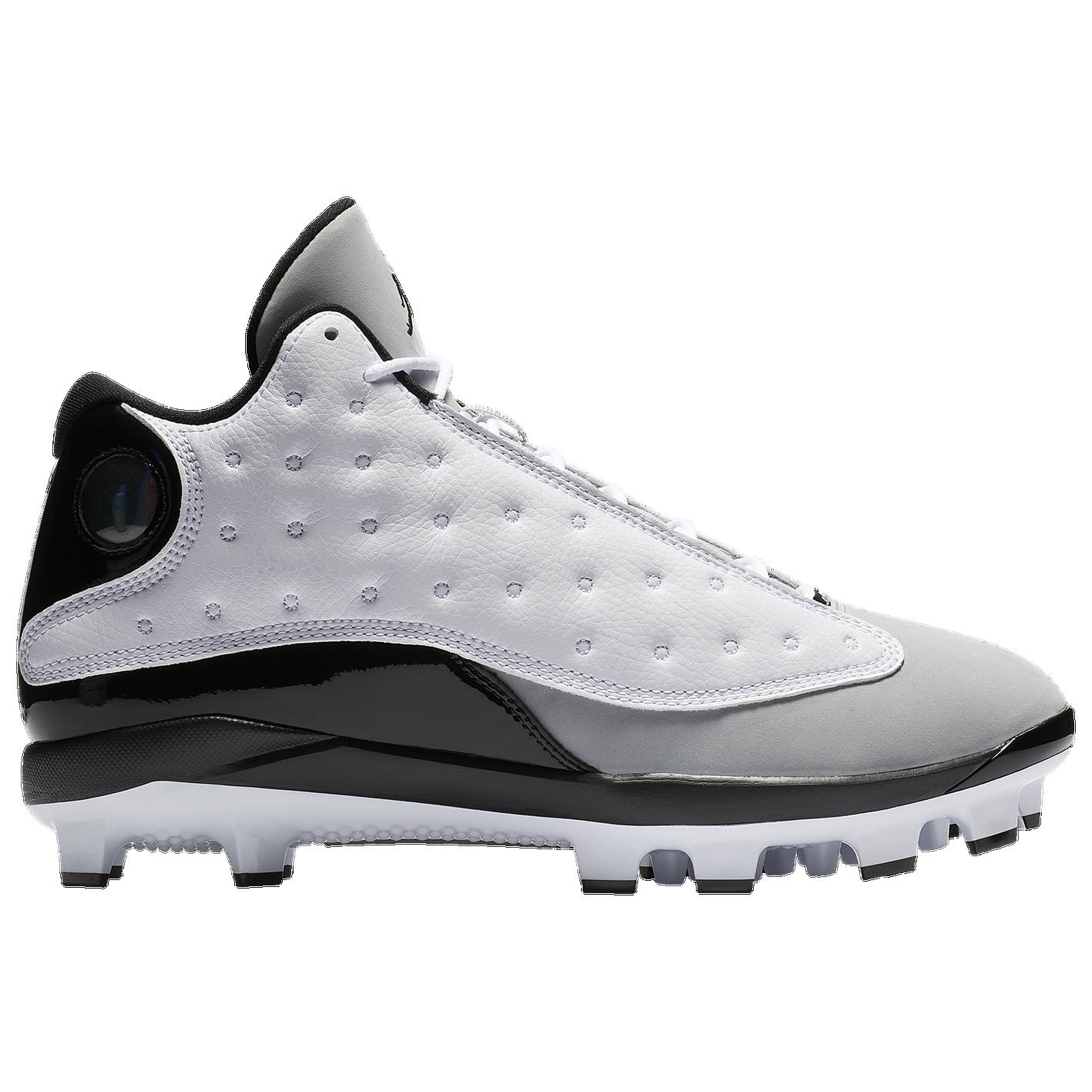 cf2e93c7b82 Jordan Retro 13 MCS - Men s - Baseball - Shoes - White Black Wolf Grey