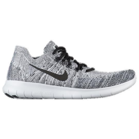 Nike Free RN Flyknit 2017 - Men s - Running - Shoes - White Black ... 730087e9f426d