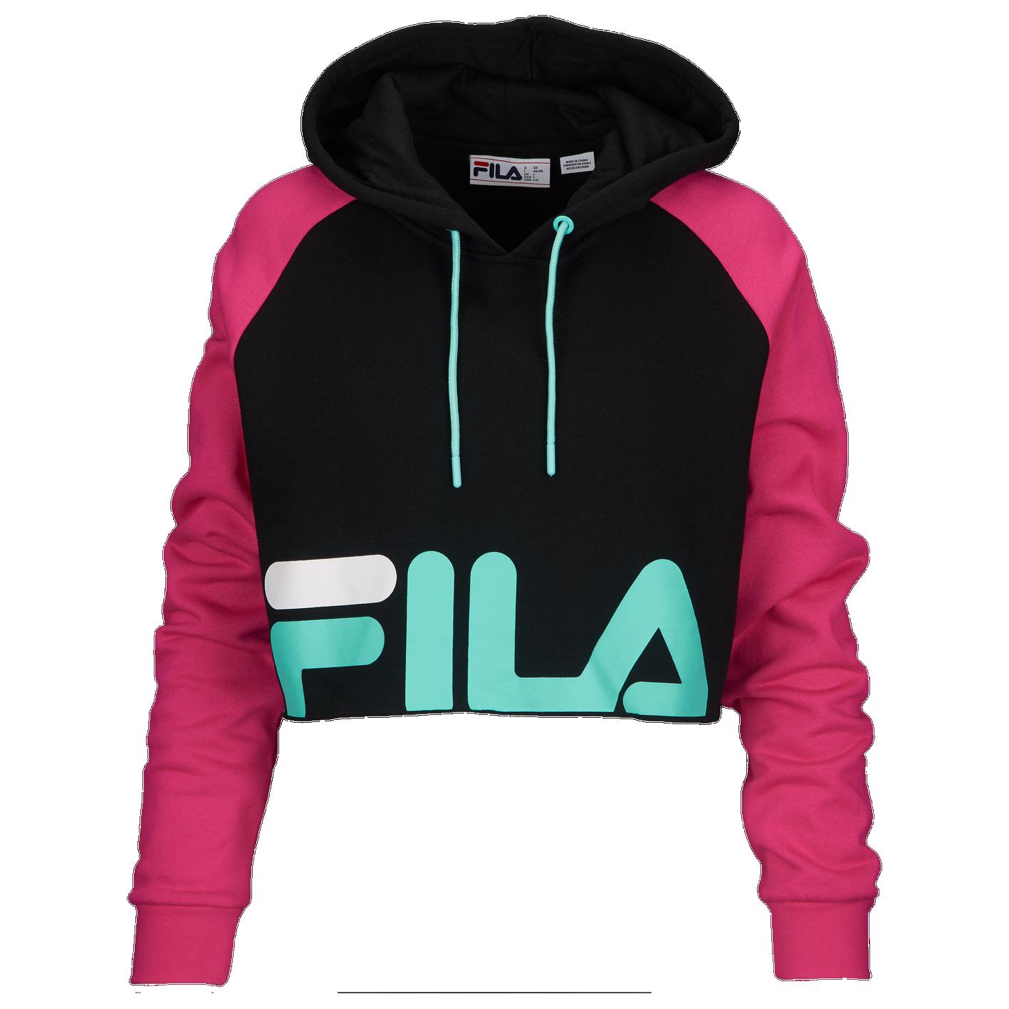 892d4c6a9401 Fila Luciana Hoodie - Women s - Casual - Clothing - Pink Black Aqua