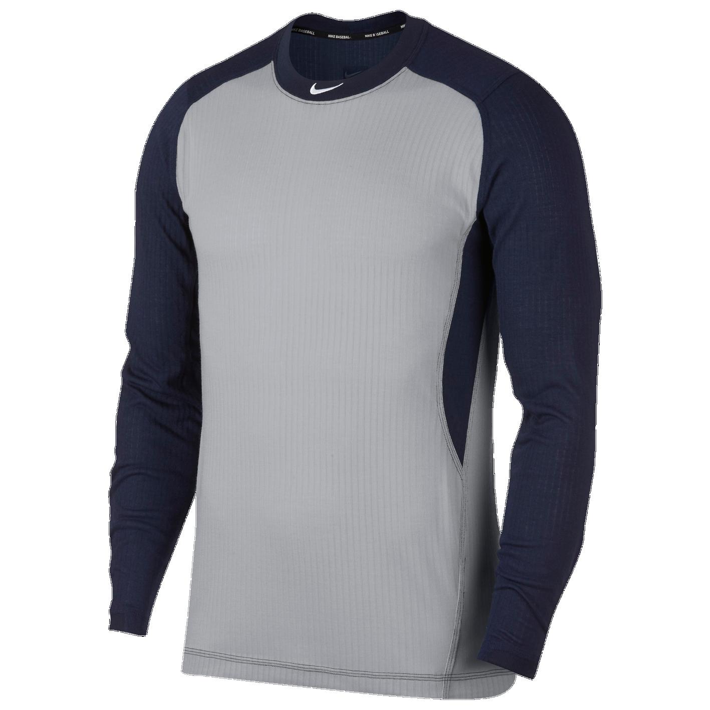 ef067f58 Nike Long Sleeve Game Top - Men's - Baseball - Clothing - Wolf Grey ...