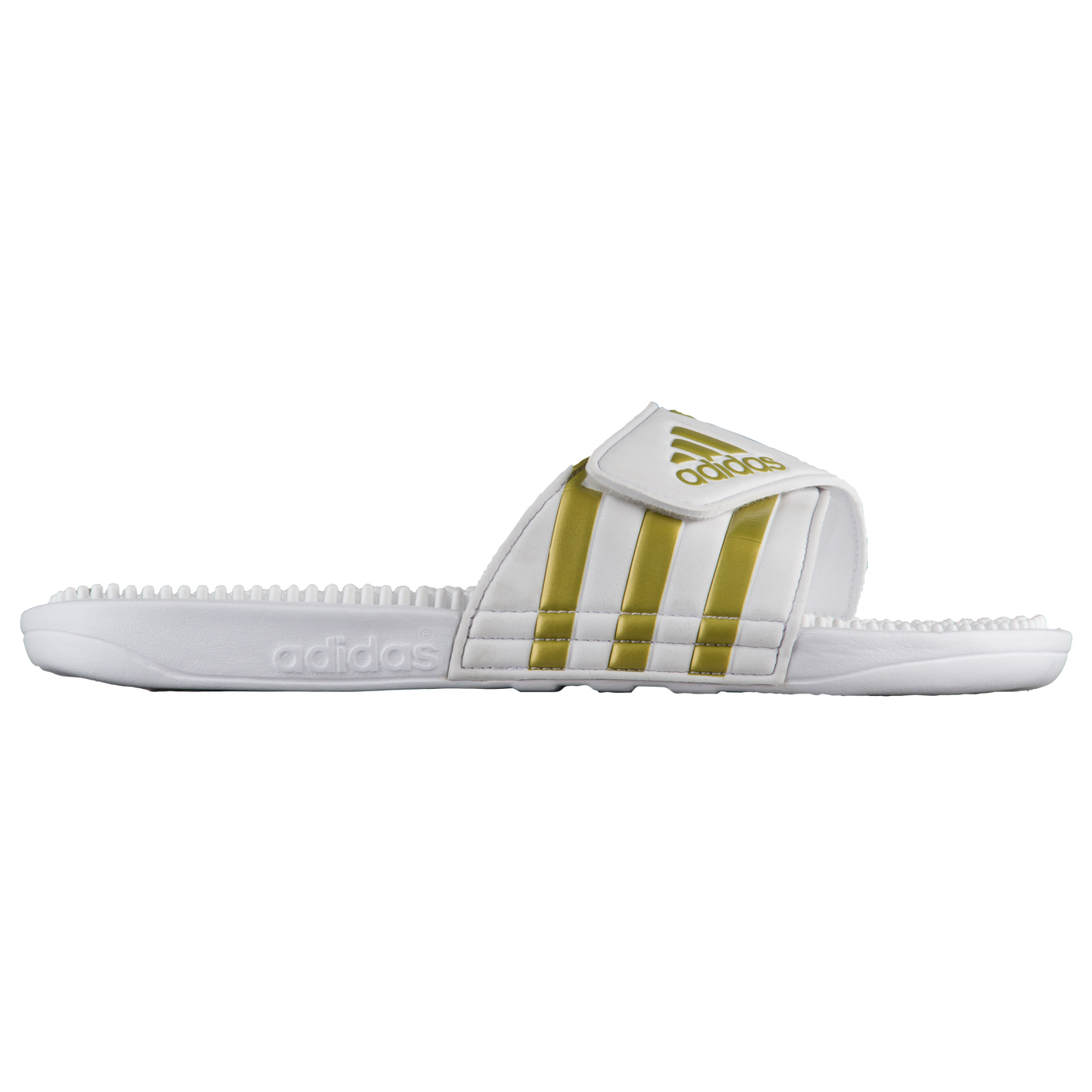 597ae4a8f adidas Adissage Slide - Men s - Casual - Shoes - White Gold Metallic ...
