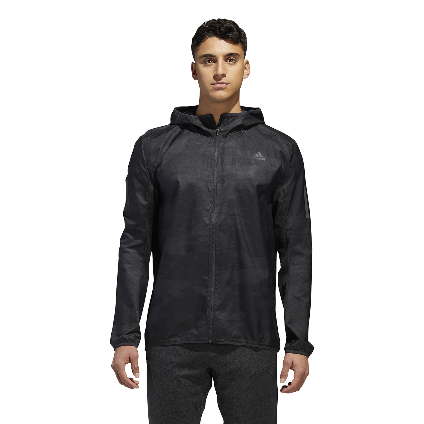 d7965a0b7 adidas Response Hooded Wind Jacket - Men's - Running - Clothing - Carbon
