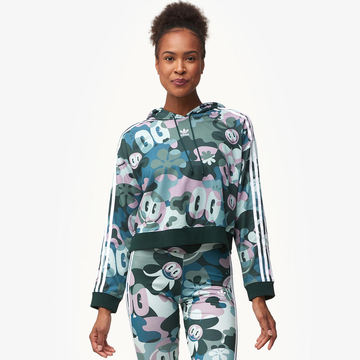 adidas Originals Gallery Cropped Hoodie - Women s - Casual ... 54e3b621a84