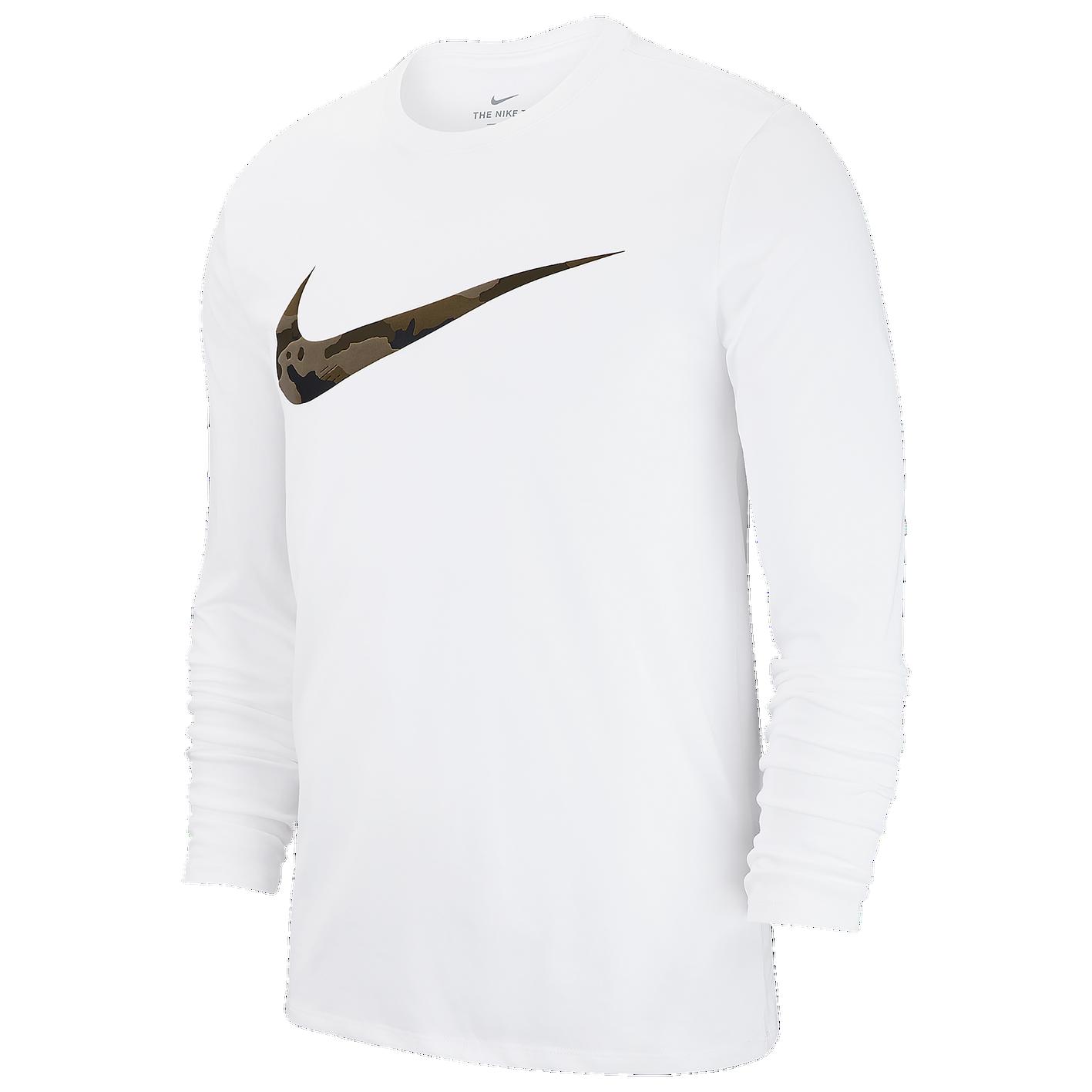46261d032063 Nike Dri-FIT Cotton L S Swoosh Camo T-Shirt - Men s - Training ...