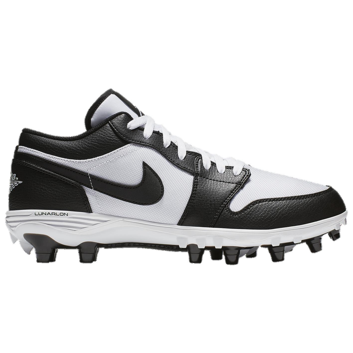 2abb8994fa8 Jordan Retro 1 TD Low - Men's - Football - Shoes - White/Black/Black