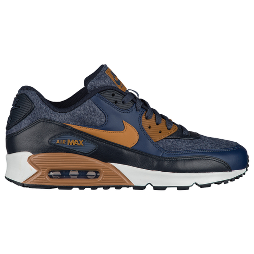 Nike Air Max 90 - Men's - Casual - Shoes - Thunder Blue/Ale Brown/Obsidian
