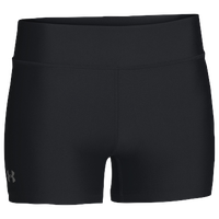 "Under Armour Team on the Court 4"" Shorts - Women's - All Black / Black"