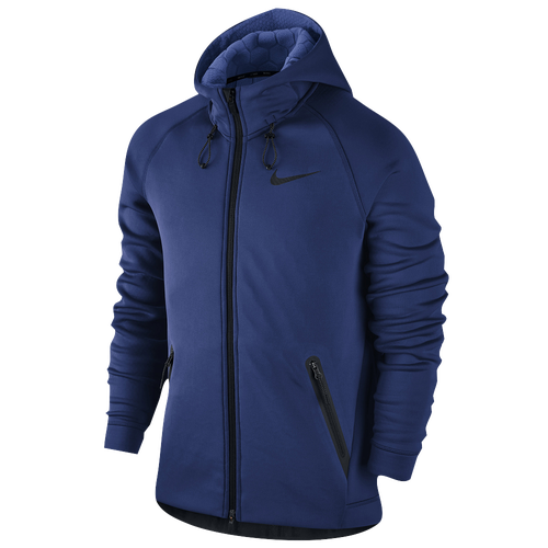 Nike Therma Sphere Max F/Z Hooded Jacket - Men's Training - Deep Royal/Game Royal/Black 00227455