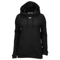 Under Armour Team Hustle Fleece Hoodie - Women's - All Black / Black