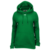Under Armour Team Hustle Fleece Hoodie - Women's - Green / Green