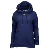 Under Armour Team Hustle Fleece Hoodie - Women's - Navy / Navy