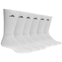 adidas Athletic 6-Pack Crew Socks - Men's - White / Black