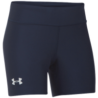 "Under Armour Team On The Court 4"" Shorts - Girls' Grade School - Navy / White"