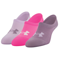 Under Armour Essential Ultra 3 Pack Lo Socks - Women's - Purple / Pink
