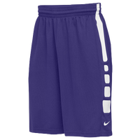 Nike Team Elite Practice Shorts - Men's - Purple / White