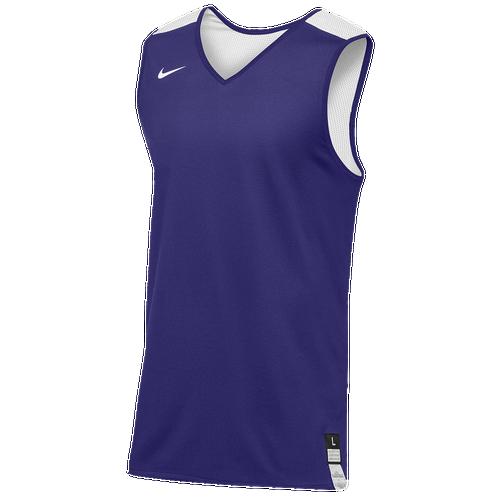 Nike Team Elite Reversible Tank - Men's Basketball - Purple/White 02330546