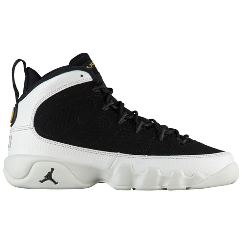 Jordan Retro 9 - Boys' Grade School - Basketball - Shoes - Black/Black/Summit  White/Metallic Gold