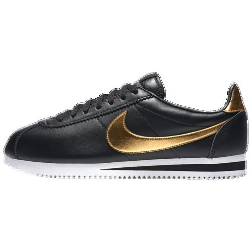 new product 3e047 ec5b8 durable modeling Nike Cortez Mens Running Shoes Black Metallic Gold White