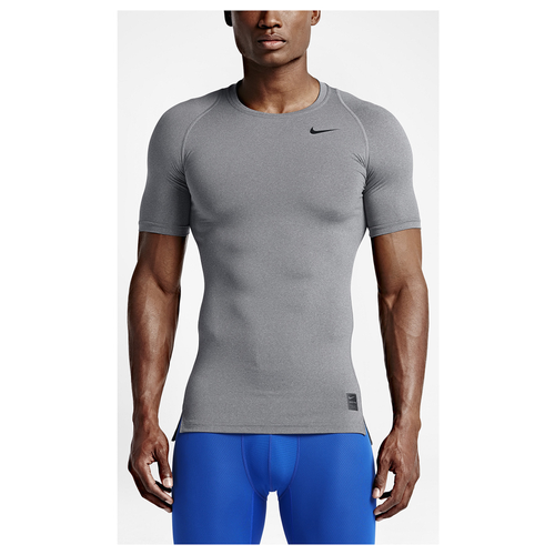 Nike Pro Cool Compression S/S Top - Men's - Training - Clothing - Carbon  Heather/Black