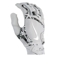 Nike Trout Elite Batting Gloves - Men's - White / Silver