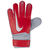 Nike Match Goalkeeper Gloves - Grade School - Red / Grey