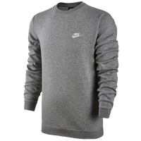 Nike Club Fleece Crew - Men's - Grey / Grey