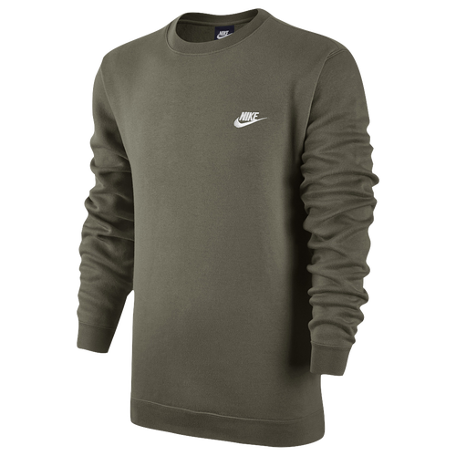 nike club fleece crew men 39 s casual clothing olive. Black Bedroom Furniture Sets. Home Design Ideas