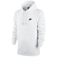 Nike Club Fleece Pullover Hoodie - Men's - All White / White